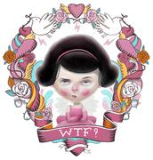 WTF Valentine illustration Stock Illustration