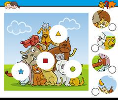 Match the pieces activity Stock Illustration