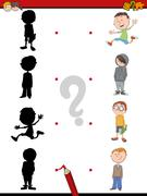 Shadow activity for children Stock Illustration