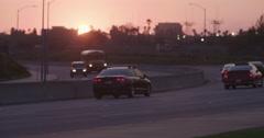 LAX Traffic Sunset. Stock Footage