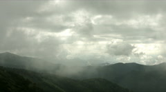Cloudy day does not suit shooting landscape, flat color Stock Footage