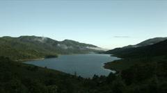 Lake Nozori morning wide angle, flat color Stock Footage