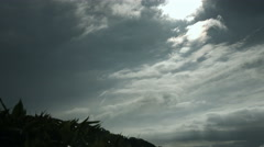 Blue sky from high mountain near Nozori dam, flat color Stock Footage