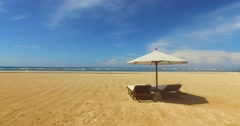 Bali, Indonesia, Nusa Dua, a beautiful beach without people. Stock Footage