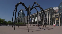 National Gallery of Canada and the spider statue Stock Footage