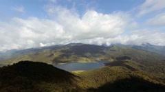 Gunma sky and Nozori dam Stock Footage
