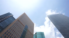 Big city Tokyo of the group of buildings and blue sky Stock Footage