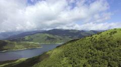 Fly above lake Nozori Stock Footage