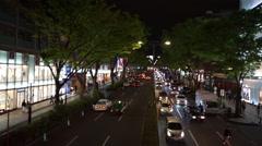 Tokyo's downtown-Omotesando Boulevard (Night) Stock Footage