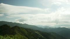 Hakkou Mountain near Nozori dam Stock Footage