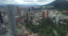Passing Torre Colpatria heading to the north of Bogota Stock Footage