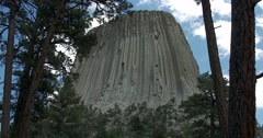 Devils Tower National Monument Stock Footage