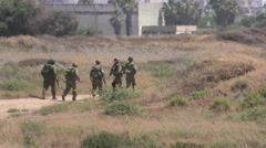 Armed Israeli soldiers in search of arab terrorists Stock Footage