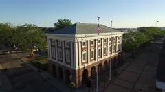 Newport RI Aerial, Museum of Newport History Stock Footage
