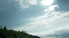 Blue sky from high mountain near Nozori dam Stock Footage