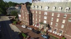 Newport RI Aerial, Viking Hotel Stock Footage