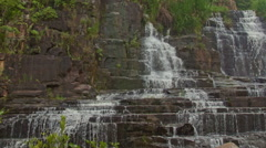 Wide Close View of Waterfall Cascade Panagarh in Vietnam Stock Footage