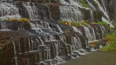 Close Motion from Down Upward of Waterfall Cascade Panagarh Stock Footage