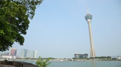 Macao cityscape Stock Footage