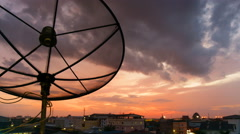 Time lapse shot of satellite communication disk Stock Footage