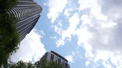 Big city Tokyo luxury Tower apartment Stock Footage