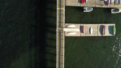 Newport RI Aerial, Ida Lewis Yacht Club Stock Footage