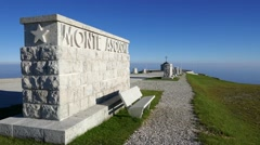 Mt Grappa - World War Memorial Stock Footage