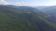 A harmonical combination of high Karpathian mountains and beautiful skyview Stock Footage