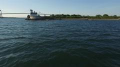Newport RI Aerial, Rose Island Lighthouse Stock Footage