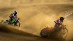 October 17 2015 Ukraine Voznesensk. Competition veterans Speedway.The final race Stock Photos