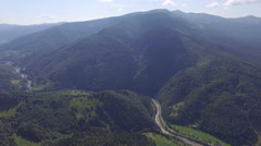 Beautiful mountains in the Ukrainian Carpathians. air video Stock Footage