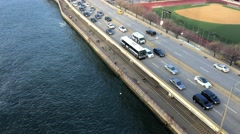 FDR Drive traffic in New York City Stock Footage