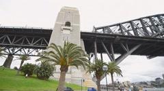 SYDNEY – NOVEMBER 2015: City harbour bridge. Sydney attracts 10 million people Stock Footage
