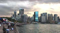 SYDNEY – NOVEMBER 2015: City harbour skyline. Sydney attracts 10 million people Stock Footage