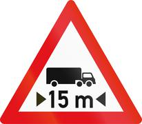 Road sign used in the African country of Botswana - Length restriction ahead Stock Illustration