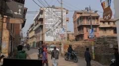 Busy street,Patan,Nepal Stock Footage