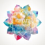 Chakra Manipura frame vector Stock Illustration