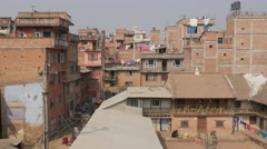 Living houses,Patan,Nepal Stock Footage