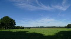 Dutch farm landscape in time lapse Stock Footage