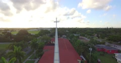 Aerial Shot of the Church Arkistovideo