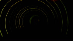 Abstract light and speed motion in subway railroad tunnel. Stock Footage