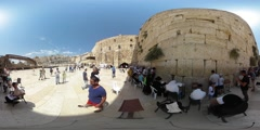 The kotel in 360 vr Stock Footage