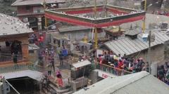 Kali temple with pilgrim crowds,Dakshinkali,Nepal Stock Footage