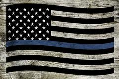 Police Support Flag Stock Illustration