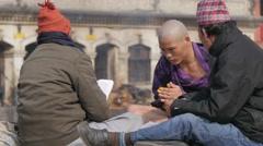 Small hindu ceremony at Pashupatinath,Kathmandu,Nepal Stock Footage