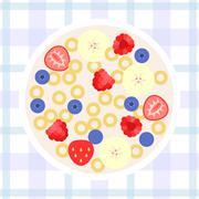 Vector cereal, flat design Stock Illustration