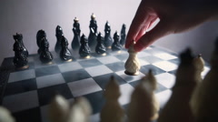 Stock footage chessboard and chess pieces Stock Footage