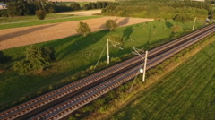 ICE highspeed train railroad track Stock Footage
