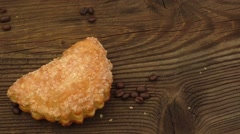 Fresh apricot dessert Stock Footage