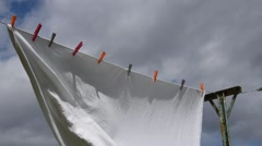 A sheet drying in the wind Stock Footage